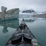 Floating icebergs at Styggevatnet